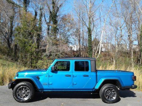 Hydro Blue Pearl 2021 Jeep Gladiator 80th Anniversary Edition 4x4