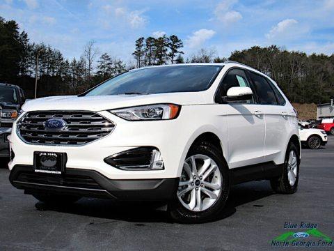 Star White Metallic Tri-Coat 2020 Ford Edge SEL AWD