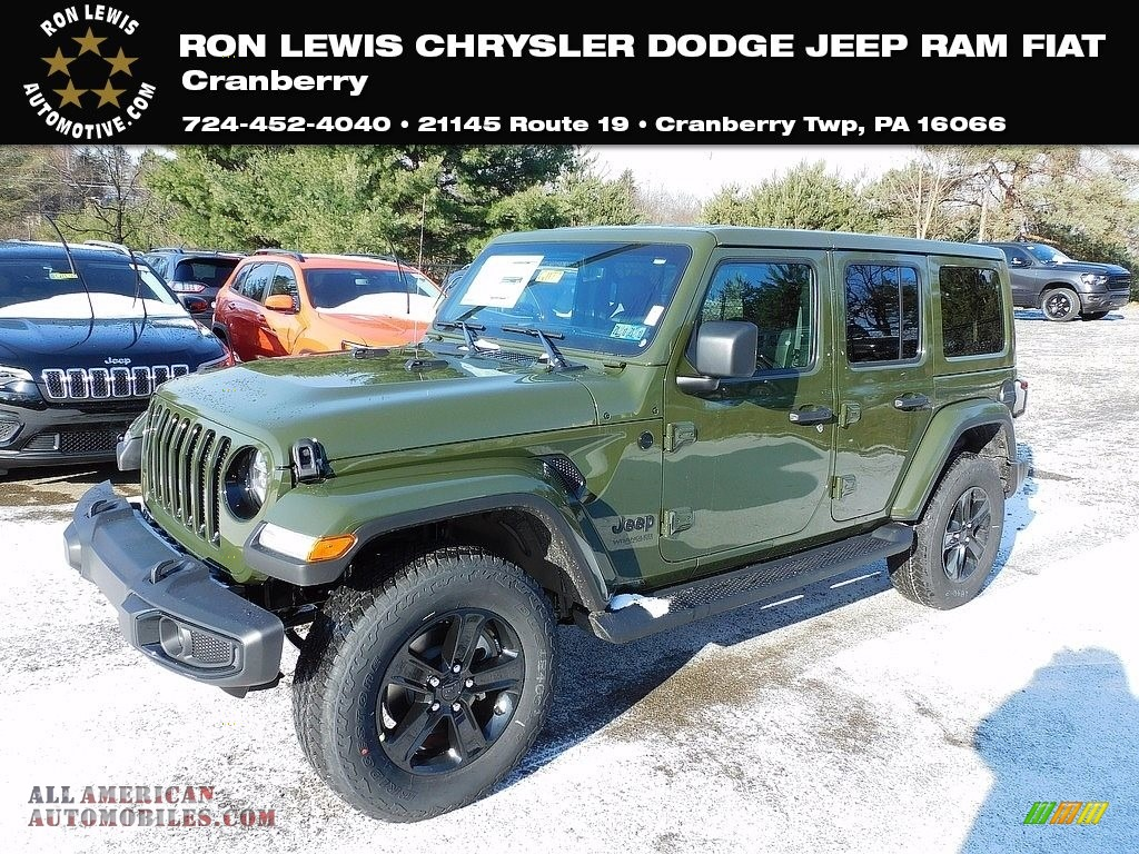 Sarge Green / Black Jeep Wrangler Unlimited Sahara Altitude 4x4