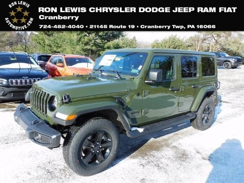 Sarge Green 2021 Jeep Wrangler Unlimited Sahara Altitude 4x4