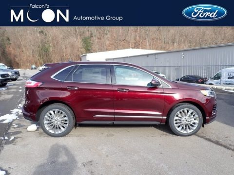 Burgundy Velvet Metallic Tinted 2020 Ford Edge Titanium AWD