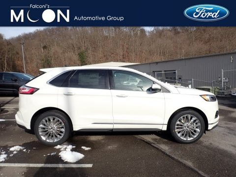 Star White Metallic Tri-Coat 2020 Ford Edge Titanium AWD