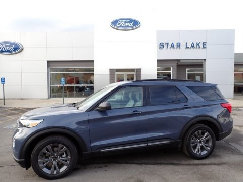 Infinite Blue Metallic 2021 Ford Explorer XLT 4WD