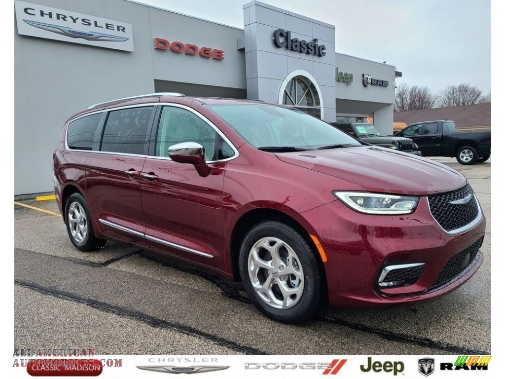 2021 Pacifica Hybrid Limited - Velvet Red Pearl / Black/Alloy photo #1