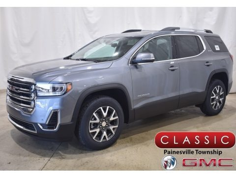 Satin Steel Metallic 2021 GMC Acadia SLE AWD