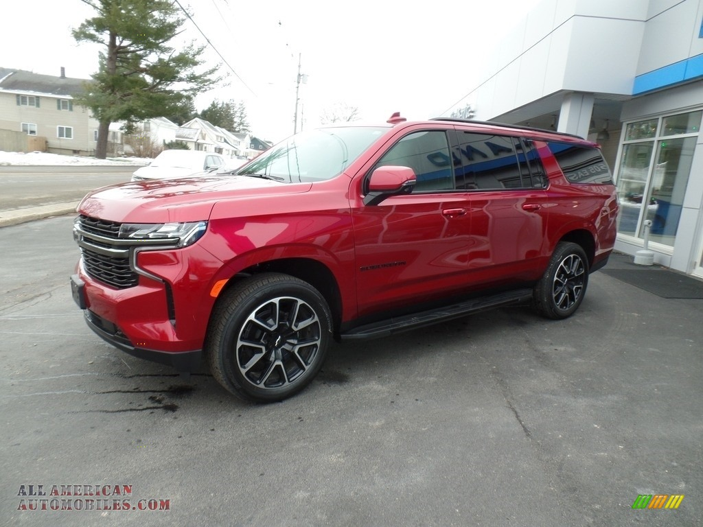 2021 Suburban RST 4WD - Cherry Red Tintcoat / Jet Black/Victory Red photo #1