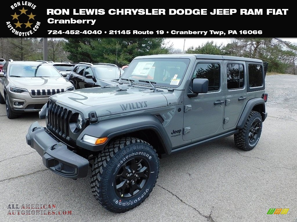 2021 Wrangler Unlimited Willys 4x4 - Sting-Gray / Black photo #1