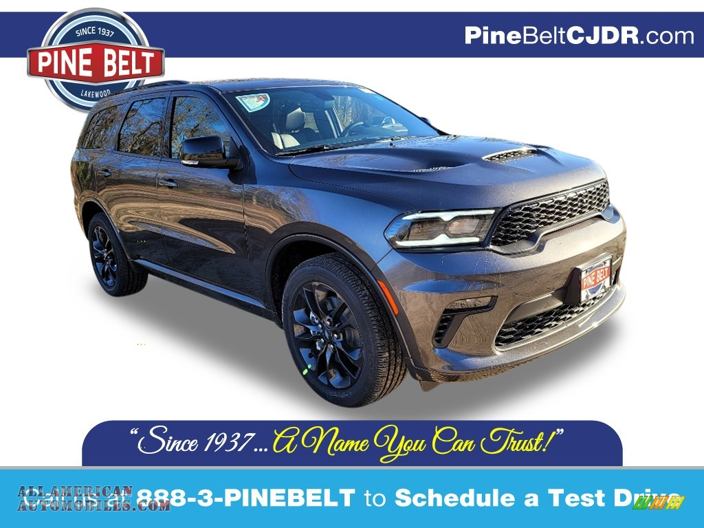 2021 Durango GT AWD - Granite Metallic / Black photo #1