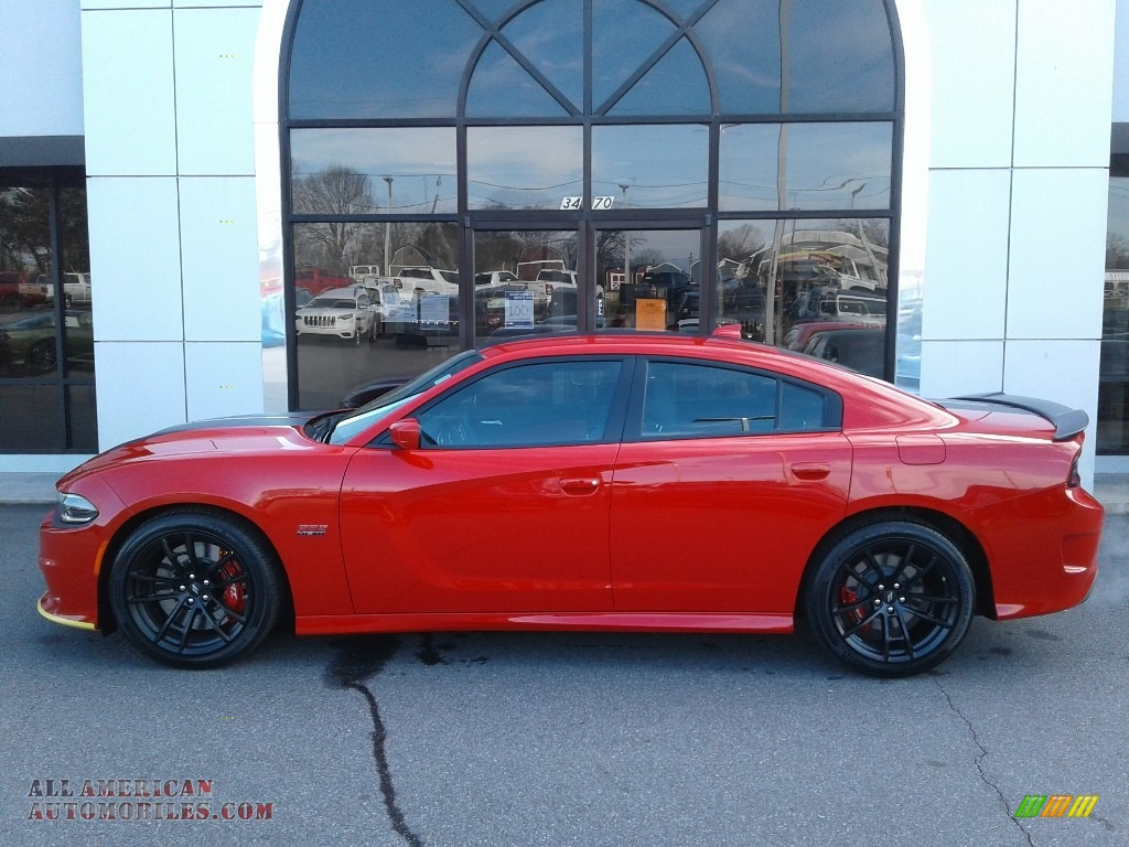 2021 Charger Scat Pack - Torred / Black/Ruby Red photo #2