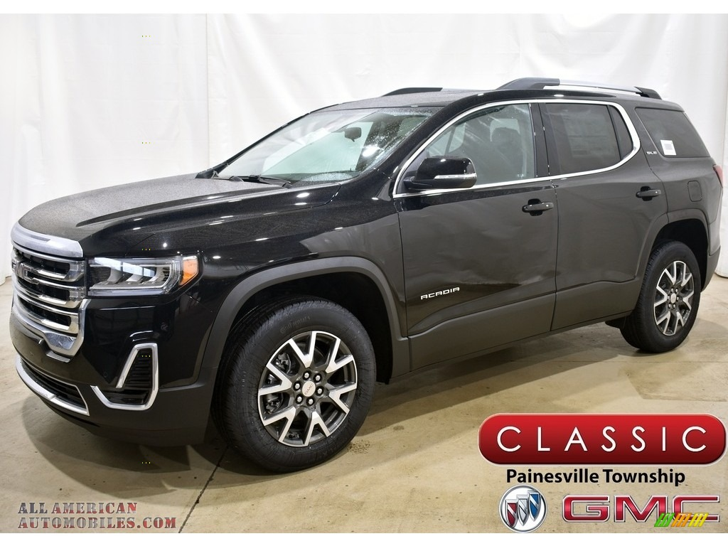 Ebony Twilight Metallic / Jet Black GMC Acadia SLE AWD