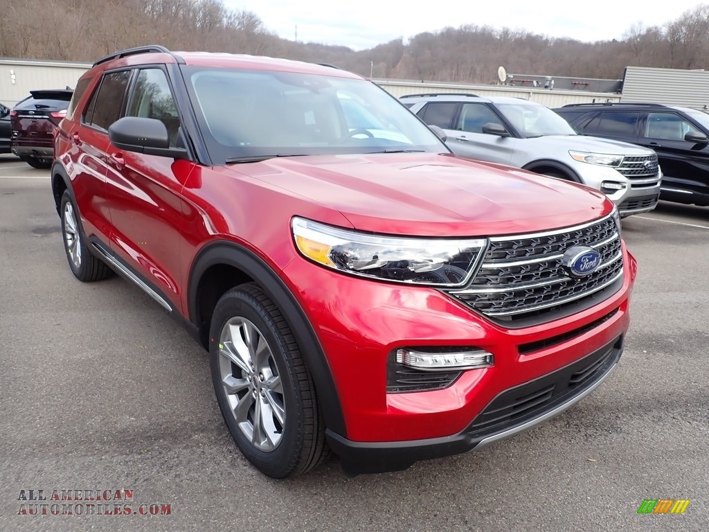 2021 Explorer XLT 4WD - Rapid Red Metallic / Ebony photo #3