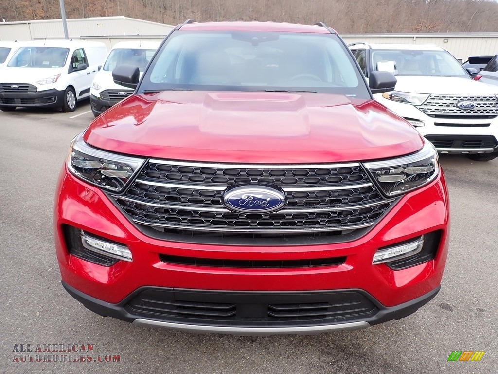2021 Explorer XLT 4WD - Rapid Red Metallic / Ebony photo #4