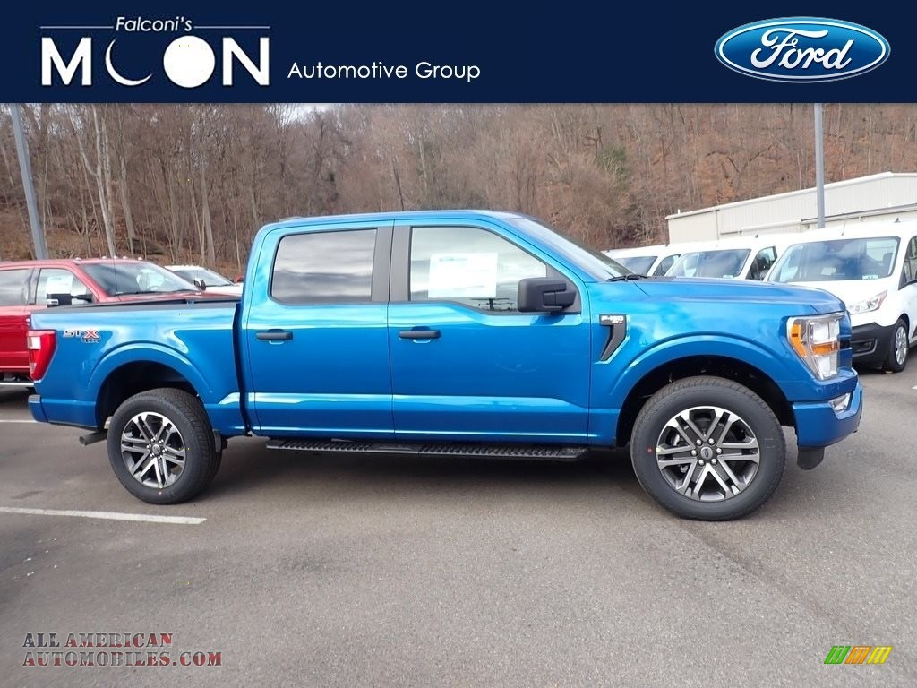 Velocity Blue / Black Ford F150 STX SuperCrew 4x4