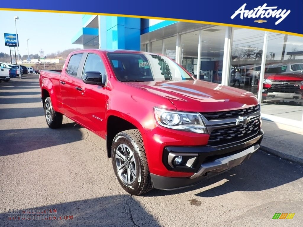 2021 Colorado Z71 Crew Cab 4x4 - Cherry Red Tintcoat / Jet Black photo #1