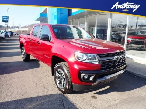 Cherry Red Tintcoat 2021 Chevrolet Colorado Z71 Crew Cab 4x4