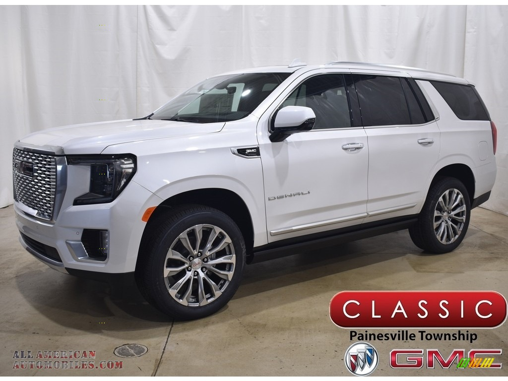 2021 Gmc Yukon Denali 4wd In White Frost Tricoat For Sale 237790 All American Automobiles Buy American Cars For Sale In America