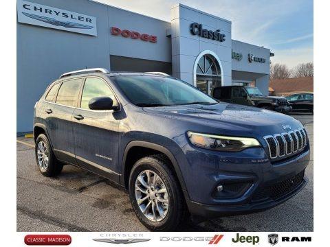 Slate Blue Pearl 2021 Jeep Cherokee Latitude Plus 4x4