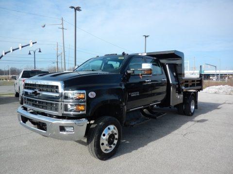 Black 2020 Chevrolet Silverado 5500HD Crew Cab 4x4 Chassis Dump Truck