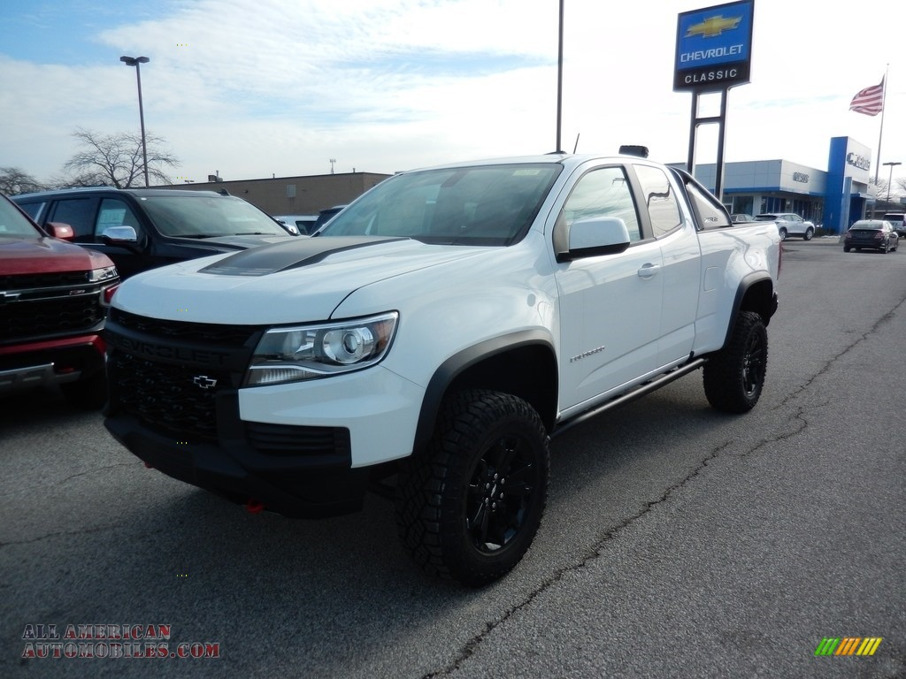 Summit White / Jet Black Chevrolet Colorado Z71 Extended Cab 4x4