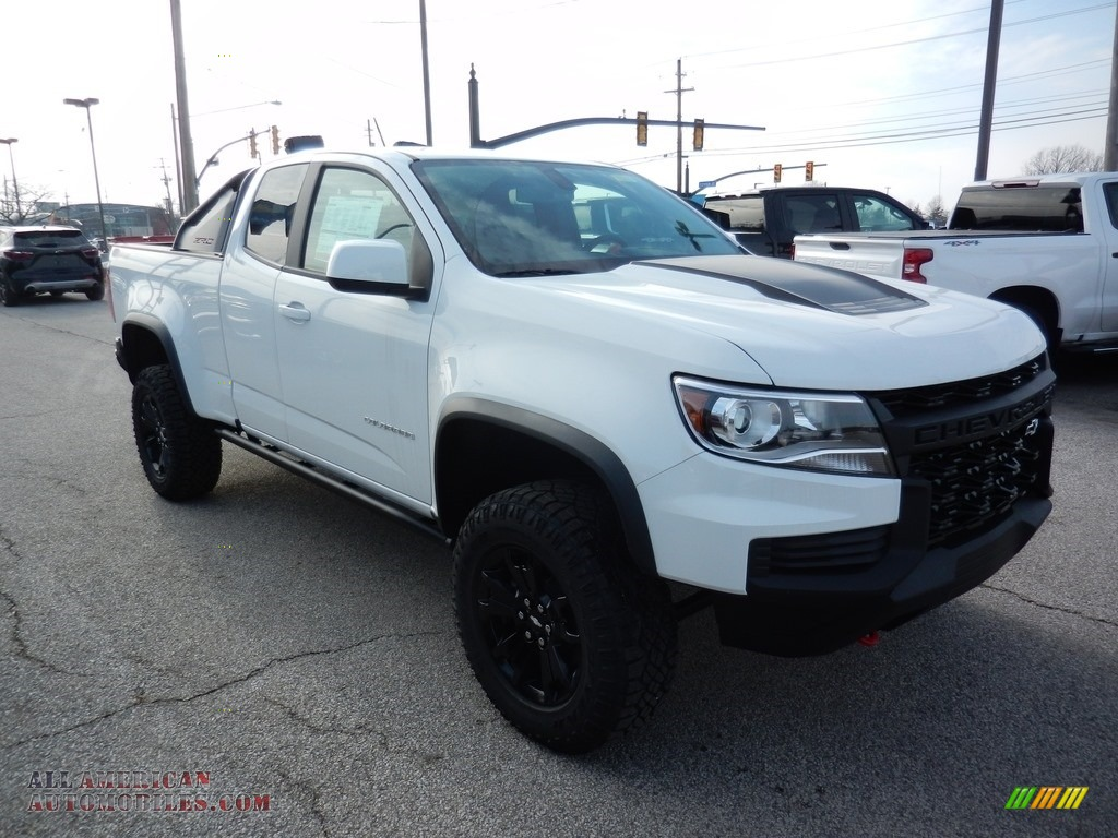 2021 Colorado Z71 Extended Cab 4x4 - Summit White / Jet Black photo #3