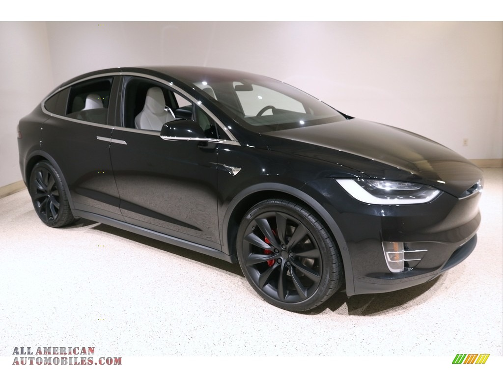 2018 Model X P100D - Solid Black / White photo #1