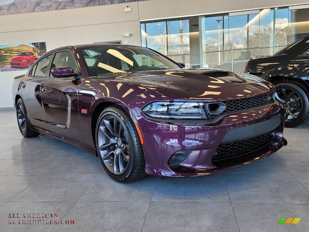 2021 Charger Scat Pack - Hellraisin / Black photo #1