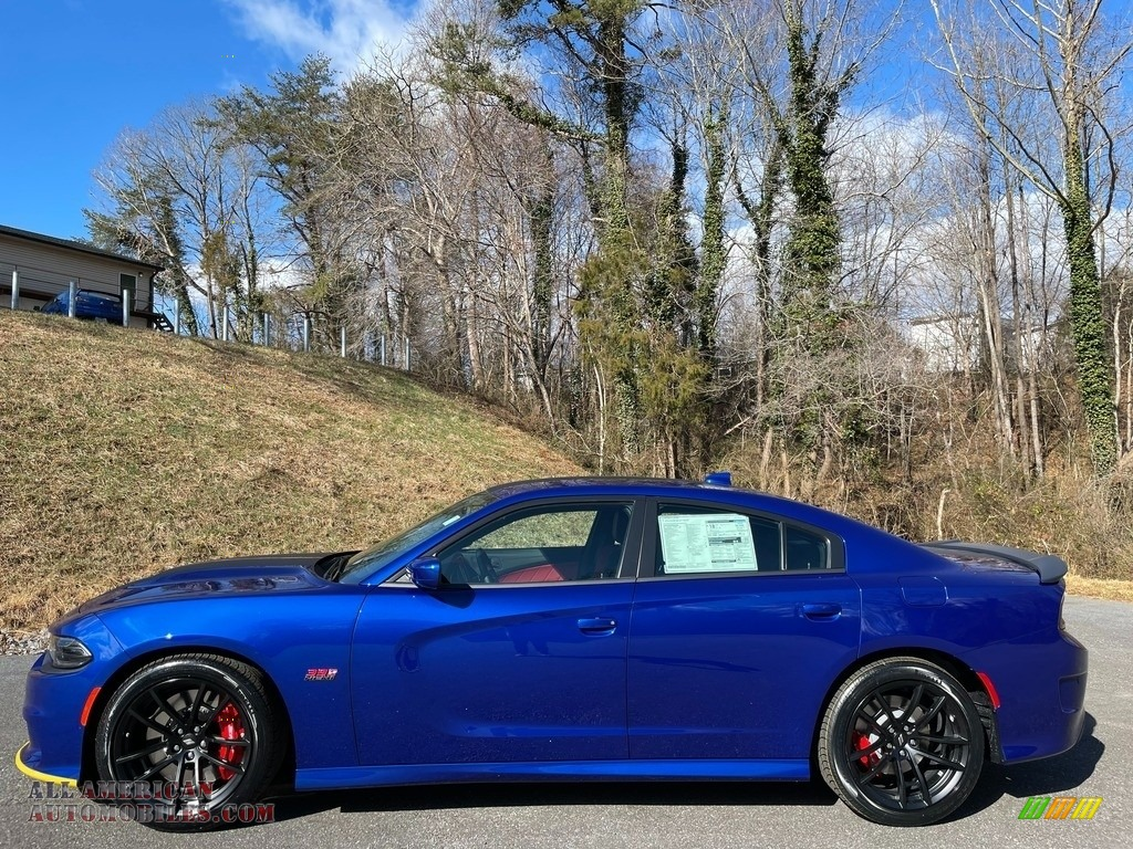 2021 Charger Scat Pack - Indigo Blue / Black/Ruby Red photo #1