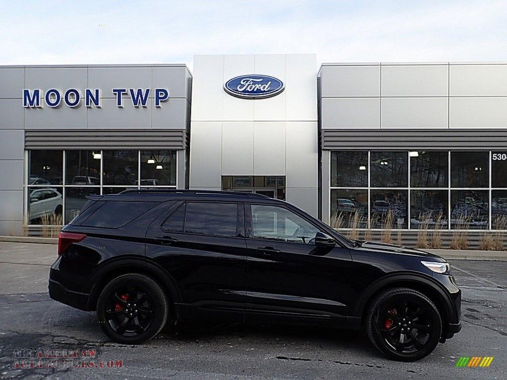 2020 Explorer ST 4WD - Agate Black Metallic / Ebony photo #1