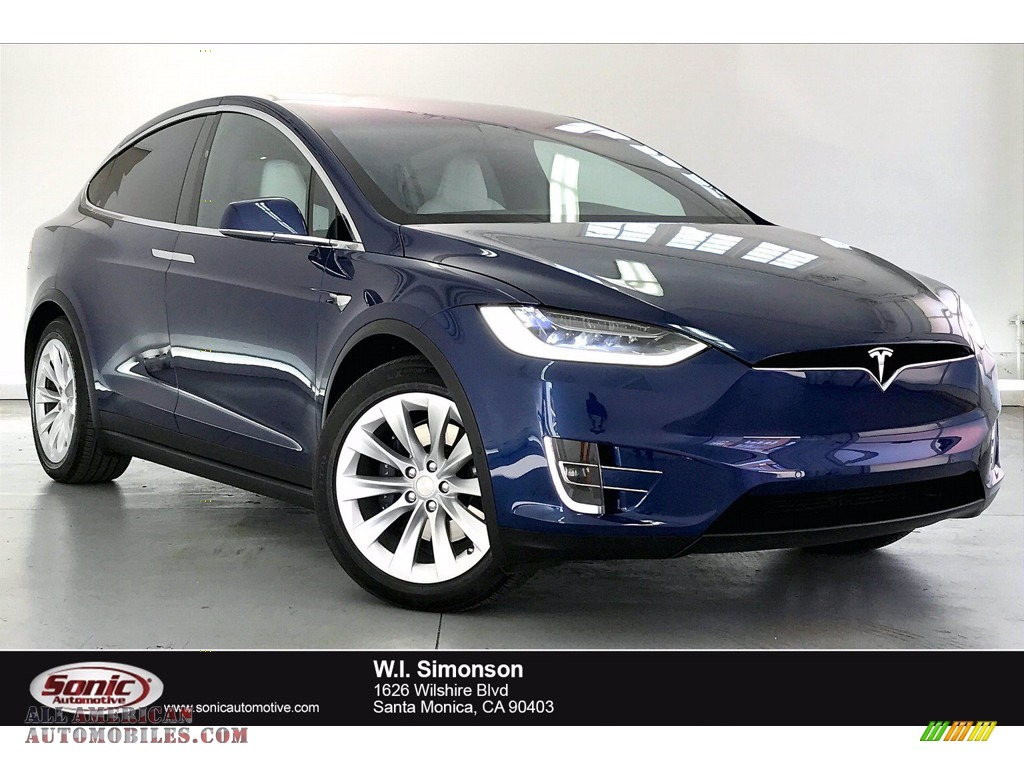 2019 Model X 100D - Solid Black / White/Black photo #1