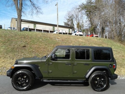 Sarge Green 2021 Jeep Wrangler Unlimited Sport Altitude 4x4