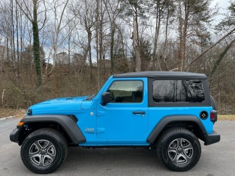 Chief Blue 2021 Jeep Wrangler Sport 4x4
