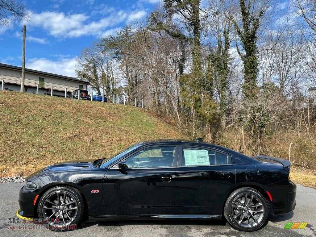 2021 Charger Scat Pack - Pitch Black / Black photo #1