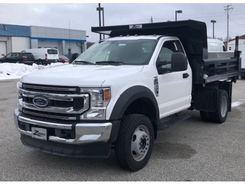 Oxford White 2021 Ford F550 Super Duty XL Crew Cab Chassis Dump Truck