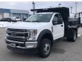 Ford F550 Super Duty XL Crew Cab Chassis Dump Truck Oxford White photo #2