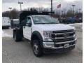 Ford F550 Super Duty XL Crew Cab Chassis Dump Truck Oxford White photo #3