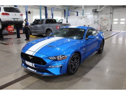 Velocity Blue 2019 Ford Mustang GT Fastback