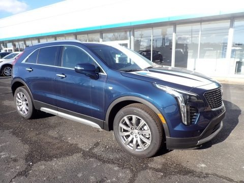 Twilight Blue Metallic 2021 Cadillac XT4 Premium Luxury AWD