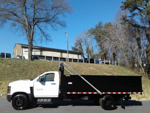 Summit White 2020 Chevrolet Silverado 4500HD Crew Cab Chassis Dump Truck