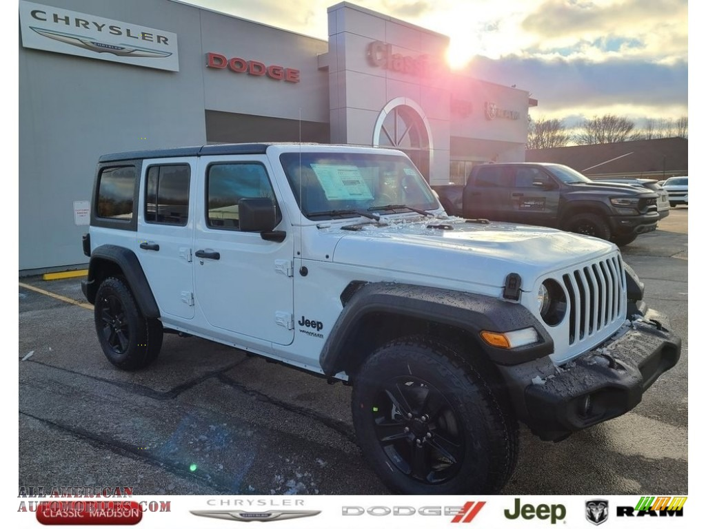 2021 Wrangler Unlimited Sport Altitude 4x4 - Bright White / Black photo #1