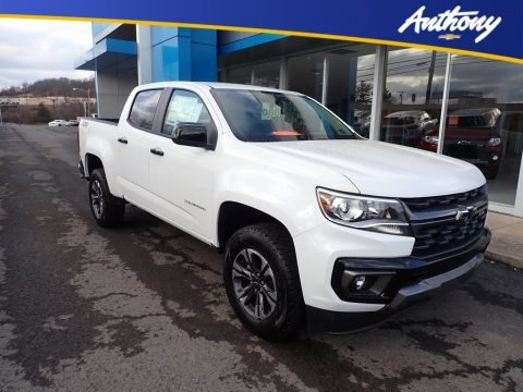 Summit White 2021 Chevrolet Colorado Z71 Crew Cab 4x4