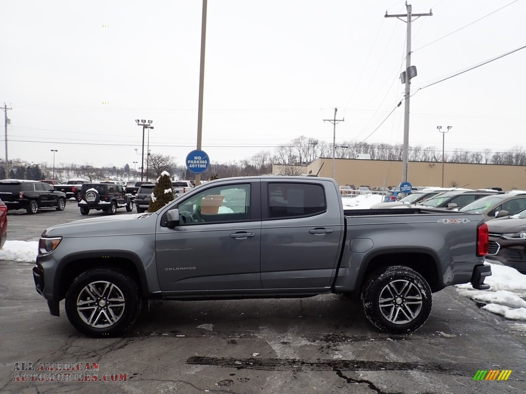 2021 Colorado WT Crew Cab 4x4 - Satin Steel Metallic / Jet Black/­Dark Ash photo #2