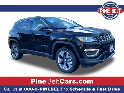 Diamond Black Crystal Pearl 2021 Jeep Compass Limited 4x4