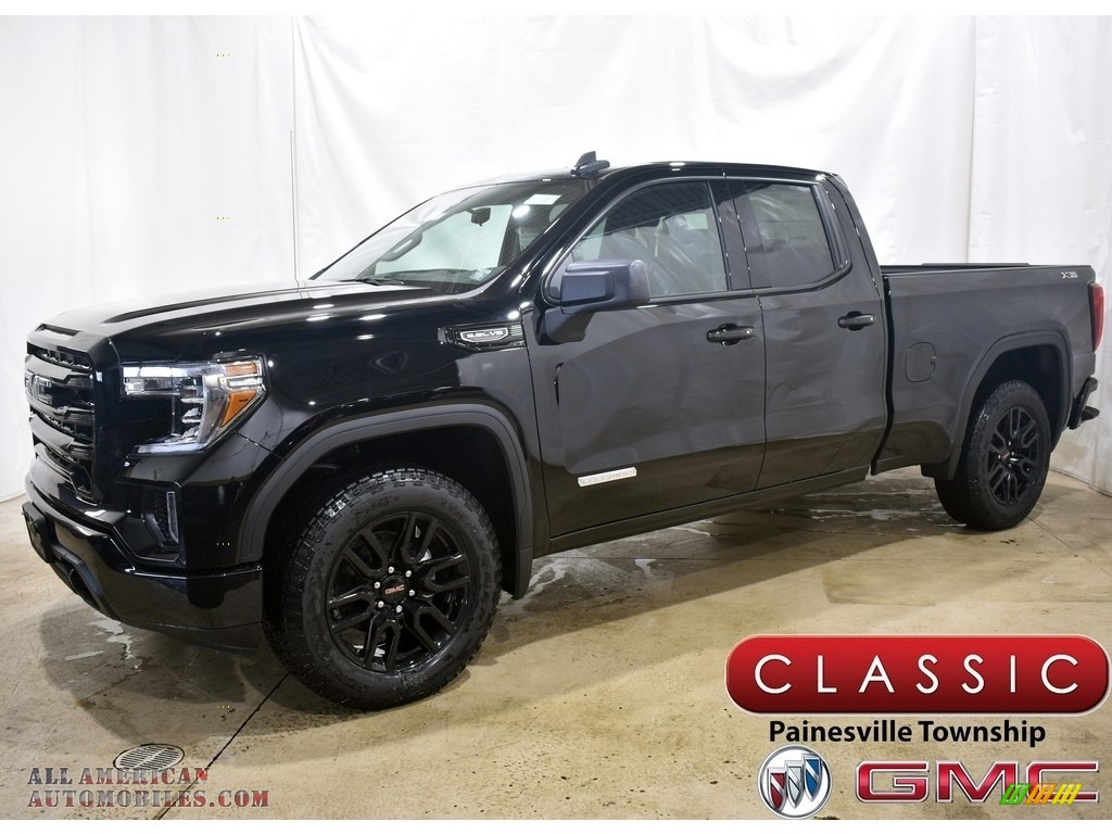 2021 Sierra 1500 Elevation Double Cab 4WD - Onyx Black / Jet Black photo #1