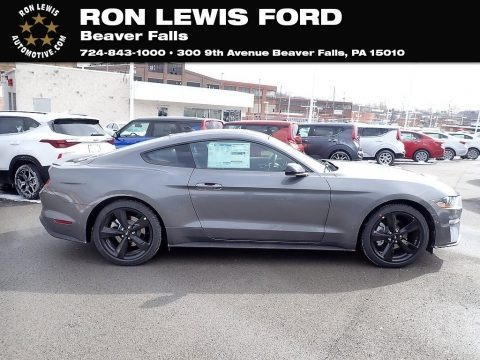 Carbonized Gray Metallic 2021 Ford Mustang EcoBoost Fastback