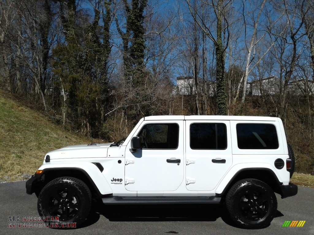 2021 Wrangler Unlimited Sahara Altitude 4x4 - Bright White / Black photo #1