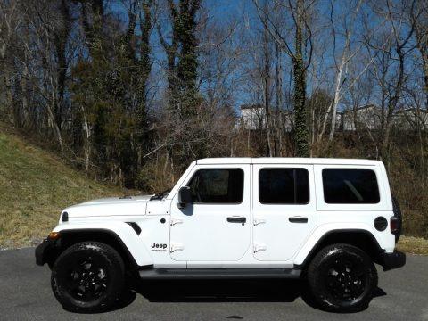Bright White 2021 Jeep Wrangler Unlimited Sahara Altitude 4x4