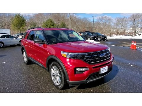 Rapid Red Metallic 2021 Ford Explorer XLT 4WD
