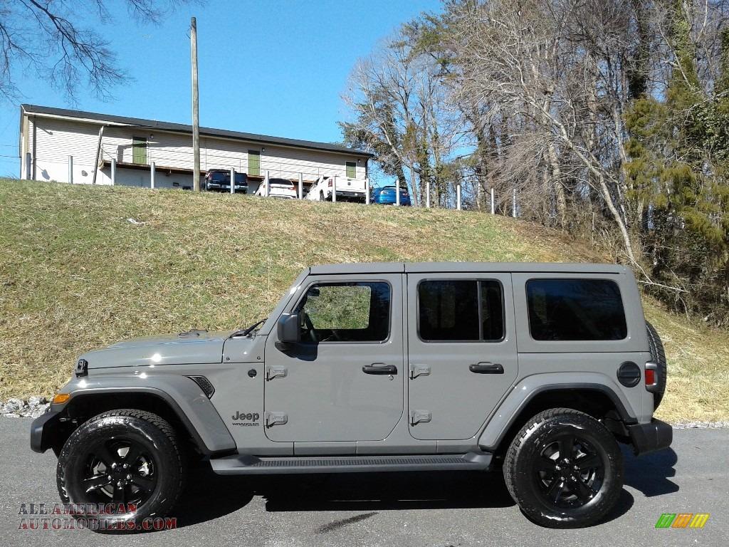Sting-Gray / Black Jeep Wrangler Unlimited Sahara Altitude 4x4