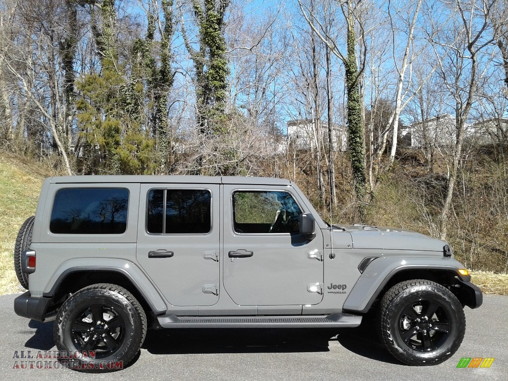 2021 Wrangler Unlimited Sahara Altitude 4x4 - Sting-Gray / Black photo #5