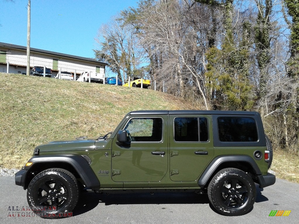2021 Wrangler Unlimited Sport Altitude 4x4 - Sarge Green / Black photo #1